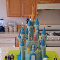 Cinderella's Castle I made Cinderella's Castle for my little princess. I used Buttercream frosting, blue sugar crystals and the castle cake kit. My...