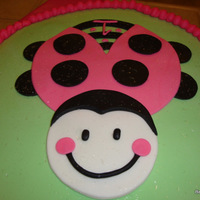 Zoie Bug A fondant 12' round cake that I made to match my friend's baby's 1st birthday party theme!