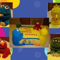 Sesame_Cake_Copy.jpg Here is my first Sesame street cake! Thanks to KimAZ and Joaaaann for your pictures and help. I took your ideas and kinda of made it my own...