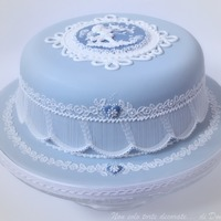 Gabriella's Cake That's the cake I did for a special friend of mine. Inspired by Wedgwood and Eddie Spence.Royal Icing runout collar topper and...