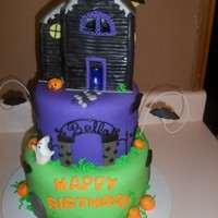 Haunted Birthday Cake