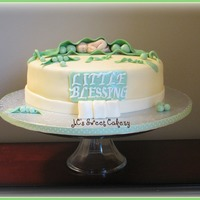 "Pea In A Pod   10"" vanilla w/straw & cream. Gumpaste baby using mold(my fav.tool) gumpaste pea also. Fun cute cake to make."