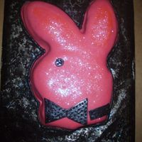 Playboy Bunny Cake I did this cake for a birthday party. Used edible pearls and glitter.