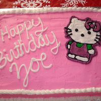 Hello Kitty all buttercream, i freehanded Hello Kitty, matched with the party invite