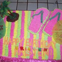 Beach Towel Cake