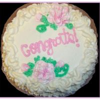 Congratulations Cake  This is a cake for a friend who recently graduated from her nursing program. (I only had 3 hours notice, or I would have done something a...