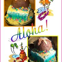 Luau Cake  I made this cake for my daughter's 12th Bday. The image in my head didn't translate as well, but I know what to do in the future...