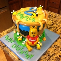 Pooh Cake Sorry about the photo shot, but this is my version of the honey pot Pooh cake. All pieces are MMF. Thanks for looking!