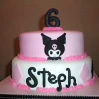 Kuromi   Fondant with gum paste/fondant accents.TFL