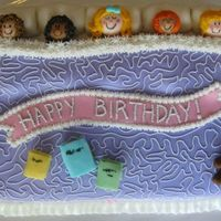 Sleepover Birthday Cake Buttercream and Fondant.
