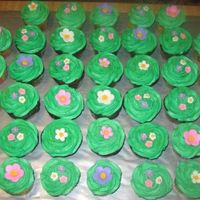 Apple Blossom Cupcakes Made for my son's teachers 50th Bday