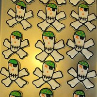 Pirate Skull Cookies Made with roll-out sugar cookies and royal icing