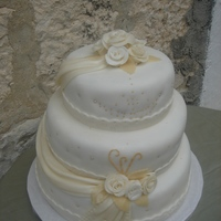 Toledo Wedding cake, all fondant. TFL!