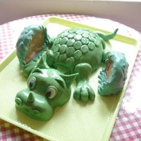 Baby Dragon Cake Fondant cake for a boy who adores Extinct Animals