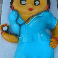 Betty Boop Nurse Fondant birthday cake for my good friend. You can guess her profession ;-)Everything is handmade. TFL.