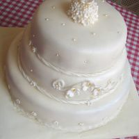 Flower Wedding Cake Fondant covered cakes. Everything hand made and edible. TFL.