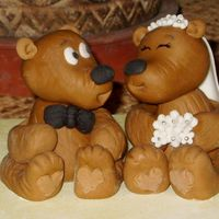 Bridal Shower Cake Topper  This little couple is waiting for their place in my SIL's bridal shower cake. Bears were made using the wonderful Aine2's...