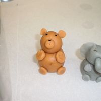 Marzipan Teddy Bear And Baby Elephant