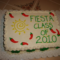 Fiesta Cake   Fiesta Cake for an Orientation Class.