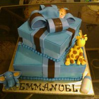 Emmanuel Bs My first gift box cake