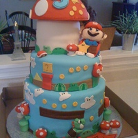 Super Mario Made for a very special little boy, i created everything by hand and it is completely edible. A lot of detail however very happy with the...