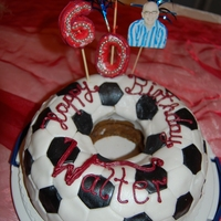60Th Birthday Football Cake For My Bfs Father Football cake....