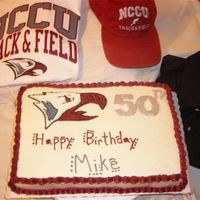 Nccu Cake I made this cake for one of the track coaches at North Carolina Central University.