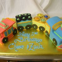 Choo Choo Train Four little cakes filled with fresh strawberries and covered in fondant