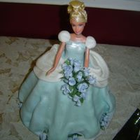 Cinderella I used a Cinderella Barbie. I used fondant icing to create the dress. I dusted it with pearl dust to make it shiny and sprinkled it with...