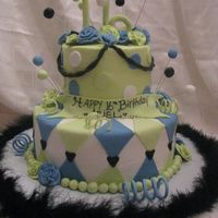 Sweet 16   Buttercream, with fondant & gumpaste accents....TFL!