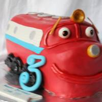 Chuggington/wilson Cake This picture is blurry, sorry - bad lighting. This cake was for a friends son. I had never heard of him before but I think he turned out...