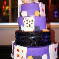 Purple Vegas Cake This cake was alternating layers of choc & vanilla, 6, 8, 10, 12. It was for my hairstylest, she threw a huge sweet 16 for her daughter...