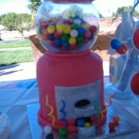 Gumball Machine Cake This was made for my sons 5th birthday. The fondant was not behaving, but I was really proud of the finished product.