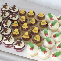 Christmas Cupcakes A sampler of cupcakes for a church function.