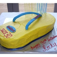 Havaianas Jandal Cake This was Made for a good friend of ours his 30th,Banana with lemon cream cheese icing, i used the Niuean flag colours as that is where why...