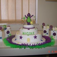 Barney Cake With Bags