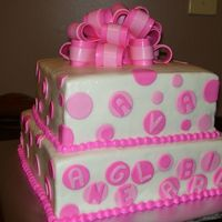Polka Dot Birthday Fondant dots and bow