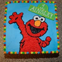 Elmo! Elmo cake I made for my granddaughter's 1st B-day. When I showed her the cake, she wanted to hold Elmo! Needless to say, she made my...