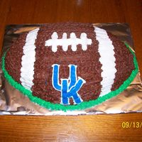 University Of Kentucky Football this is a cake i did for my nephew.it was a chocolate cake with chocolate buttercreme icing.