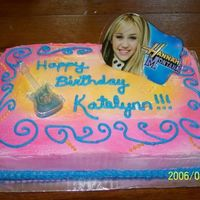 Hannah Montana Cake This is the cake I made for my 9 year old's birthday. It is a white cake with buttercream icing. The Hannah decor I bought online. The...