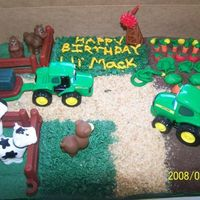 "John Deere 1/2 Sheet Cake This is the first cake that I made for someone other than my own children. It was the ""main"" cake for my nephew's first..."