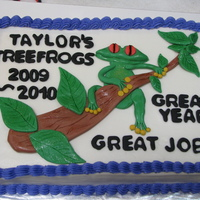 Teachers Tree Frog End of School Year celebration. Buttercream with fondant accents.