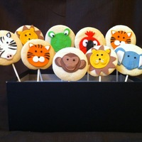 Jungle Cookie Pops   All fondant on sugar cookies. Thanks for looking :)
