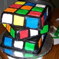 Rubix Cube covered in MMF. colored squares are b/c