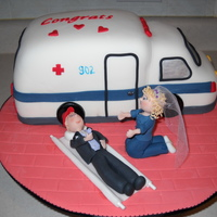 Bridal Shower Cake This was made for a bridal shower...she is an EMT, so this is what we came up with..thanks for all cc's great ideas. My ambulance...