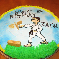 Martial Arts Karate Cookie Cake chocolate chip cookie cake