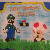 Luigi And Toad Mario Bros Cupcake Cake this cake is made up of all cupcake
