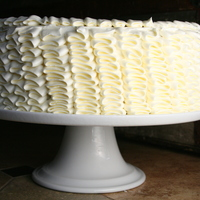 Ruffle Cake Ruffle cake made with a medium petal tip. Swiss meringue buttercream