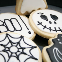 Halloween Sugar Cookies Halloween Sugar cookies with Black and White Royal Icing