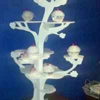 Tree Cupcake Stand  i made this tree cupcake stand from foam core once i got started it really wasnt that bad of a project it took about 2 1/2 pieces of the...